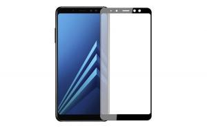 Folie sticla, Samsung A9 2018, acopera tot ecranul, Negru