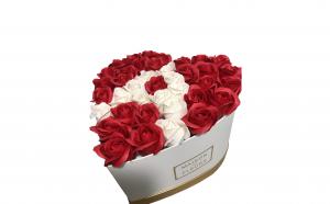 Trandafiri din sapun parfumati - inimioara 29 cm, i3-02