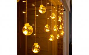 Instalatie luminite pentru decor Craciun Globuri mari