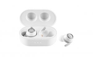 Casti GoGEN TWS MATE, True Wireless Stereo, Bluetooth 5.0, microfon, IPX4, 5 mW, culoare alba