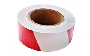 Banda reflectorizanta tip fagure alba/rosie 02R/W 5cm x 25m CH