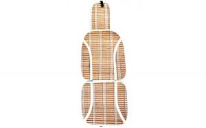 Set 2 huse scaun bambus bej (2 buc./set )