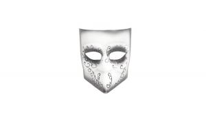 Masca carnaval venetian, negru/alb
