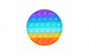 Jucarie senzoriala antistres, Pop It Now, disc multicolor, 12.5 cm