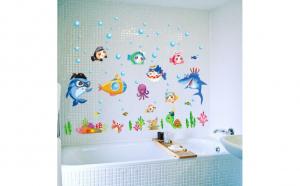 Autocolant perete camera copii Sea Life