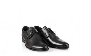 Pantofi barbati, eleganti, piele naturala, 7408, Culoare-Maro, Negru