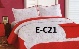 Cuvertura de pat Luxury + 2 fete de perna din bumbac brodat, la doar 109 RON de la 259 RON