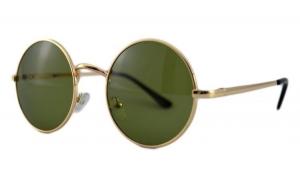 Ochelari de soare Rotunzi Retro John Lennon Verde - Auriu