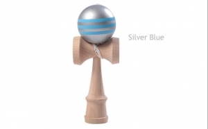 Cel mai in voga joc de indemanare Kendama Pro Competition Grey Blue, la doar 64 RON in loc de 180 RON