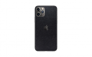 Skin iPhone 11 PRO Super TOUCH, Black Leather Texture