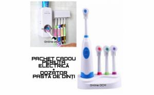Periuta electrica + Dozator de pasta de dinti
