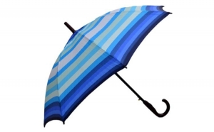 Umbrela Femei THEICONIC automata Bleu multicolor 110cm diametru - anti-vant