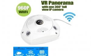 Camera supraveghere video 360 Panoramic 960P Wireless Ip 1.3MP infrarosu rezolutie HD, la doar 336 RON in loc de 570 RON