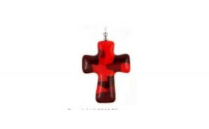 Pandant sticla Murano in forma de cruce