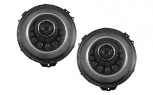 Set 2 faruri, Bi-Xenon LED compatibil cu MERCEDES W463 G-Class (2005-2017) M-look, cu semnal secvential dinamic