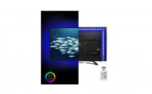 Banda LED USB 2M multicolora pentru iluminare ambientala in spatele televizorului, 16 culori