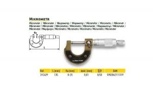 Micrometru 135mm ra 0-25