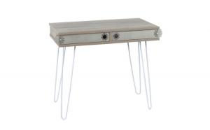 Masa tip birou, 96 x 51 x 75 cm, culoare gri-stejar, Quasar&Co.