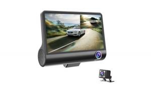 Camera auto tripla: fata, spate, interior, design tip monitor, 4 inch, Full HD, 170 grade