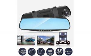 Camera Video Auto Dubla Tip Oglinda, Meniu Limba Romana, Full-HD 1080p ,Display 4.3 Mod Parcare, G Senzor, Detectie Miscare, Unghi larg filmare marca Reflection Vision®