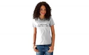 Tricou dama alb -  I understand
