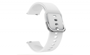 Curea Silicon Premium MTP Universala White 22mm Quick Release, Smooth, pentru SmartWatch