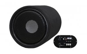 Subwoofer Bass Auto Activ cu Amplificator Incorporat 200W 25cm Voice Kraft VK-1001 + Kit Cabluri Cadou VKFT-1001-VK