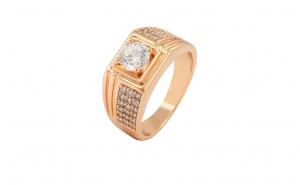 Inel Barbati Luxury Brilliant,dublu placat aur 18K