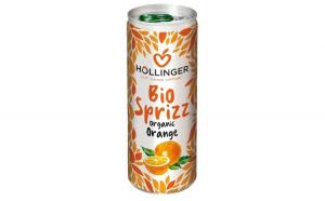 Suc de portocale Bio Hollinger 250 ml, Carbogazos HOLLINGER