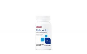 Acid folic 800 mcg 100tbl GNC