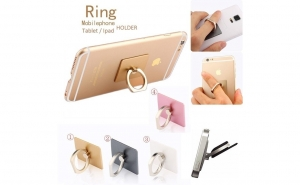 Ring Stend - suport ergonomic pentru telefon, smartphone, tableta - culori negru, roz si bleu