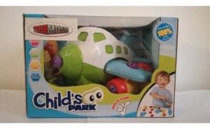 Set educativ DYI Avion - din plastic - pentru copii 3 ani+