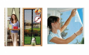 Plasa anti insecte pentru usa + Plasa anti insecte pentru fereastra
