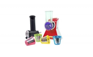 Razatoare electrica + aparat sorbet Victronic, 150W - rosu + Set cutite 3 piese cadou