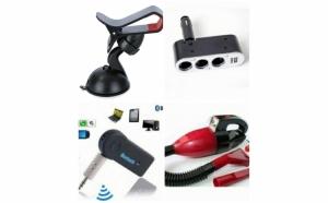 Pachet Aspirator masina + Car Kit Wireless Bluetooth + Tripla auto + Suport auto