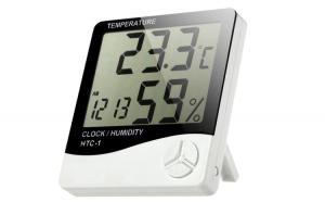Termometru de camera cu ceas LCD, senzor