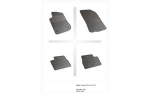 Covoare cauciuc PEUGEOT 208 2012-> ( 0640 P40 )