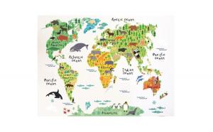 Sticker decorativ, Harta lumii a