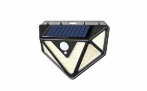 Lampa 166 LED cu panou solar