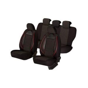 Huse scaune auto SKODA OCTAVIA I 2000-2010  dAL Racing Negru,Piele ecologica + Textil