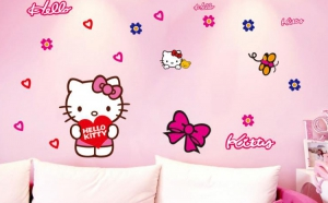 Autocolant Hello Kitty Sticker Perete, Masina, la doar 43 RON in loc de 86 RON