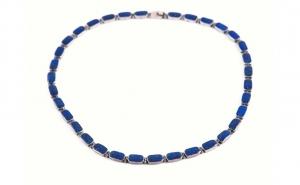 Colier mexican din Argint cu Lapis Lazuli