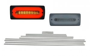 Stopuri Full LED Fumurii cu Bandouri Laterale Aluminiu Mat AMG Design compatibil cu Mercedes W463 G-Class (1989-2015)