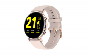 """Ceas Smartwatch TND Wear SG3, Rezistent la apa IP68, Heart Rate, ECG, Oxygen Control, Pedometru,Music Control,  ecran 1.2"""" AMOLED, baterie 5 zile, 190mAH, roz"""