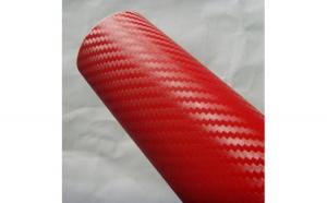 Rola folie carbon 3D rosie latime 1.27m x 30m