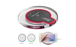 Incarcator Wireless Qi pentru smartphone cu cablu micro USB inclus