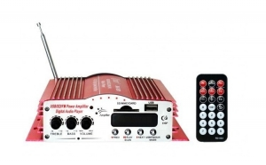 Amplificator Statie Auto, 4x40W, 4 Canale, Voice Kraft 200-MA cu Telecomanda VKFT-200L-MA