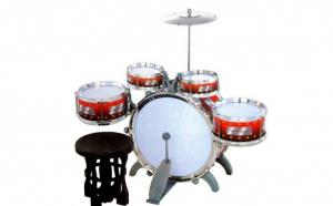 Set de tobe pentru copii, 10 accesorii, 60 cmx50 cm, plastic ABS rezistent, cimbal din metal