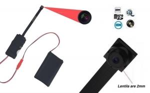 Microcamera spion IP Wireless cu lentila 2mm, transmisie LIVE, autonomie 6 ore