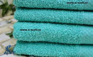 Set 6 prosoape Turquoise Collection, marimea 50x90 cm, densitatea 470 g/m2, poze reale, la doar 62 RON de la 119 RON
